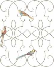 Обои Ironwork with Birds Chelsea Lane Collection JB60500