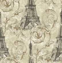 Обои Eiffel Tower Scroll Paris RS71200