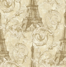 Обои Eiffel Tower Scroll Paris RS71205